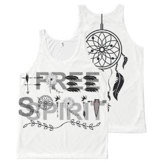 Free Spirit Dream Catcher All-Over Print Singlet