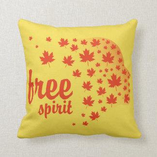 Free Spirit Face, Autumn Cushion