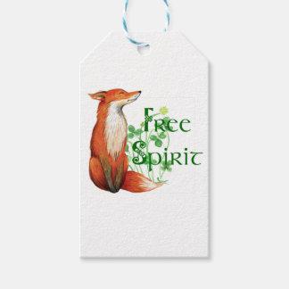 free spirit fox gift tags