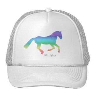 Free spirit painted horse cap