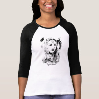 Free Spirit Tee French Words Pencil Drawing Hippy