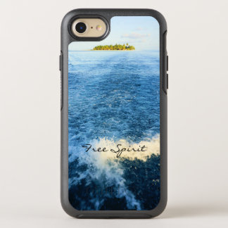 Free Spirit Tropical Maldives Blue Ocean Waves OtterBox Symmetry iPhone 8/7 Case