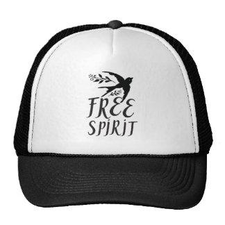free spirit with pretty swallow bird cap