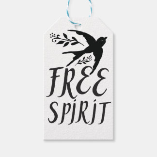 free spirit with pretty swallow bird gift tags