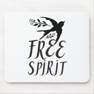free spirit with pretty swallow bird mouse pad