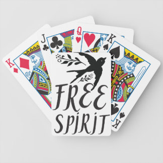 free spirit with pretty swallow bird poker deck