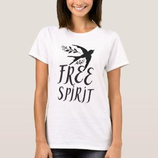 free spirit with pretty swallow bird T-Shirt