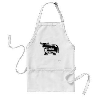 Free Steaks Adult Apron