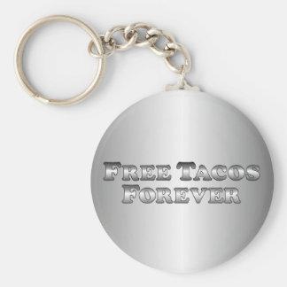 Free Tacos Forever - Basic Basic Round Button Key Ring