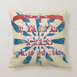 Free the clowns cushion