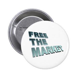 Free The Market Pin