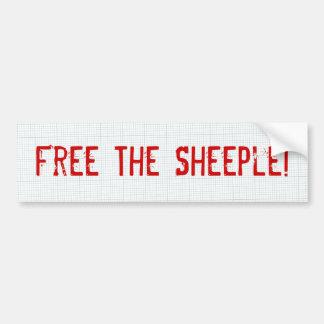 Free The Sheeple! Bumper Sticker