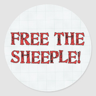 Free The Sheeple! Round Sticker