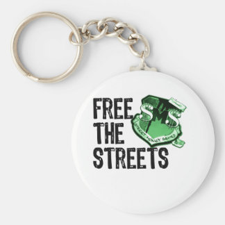 FREE THE STREETS Gadgets Basic Round Button Key Ring