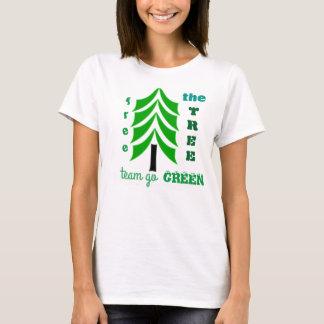 Free the tree eco friendly youths tshirt