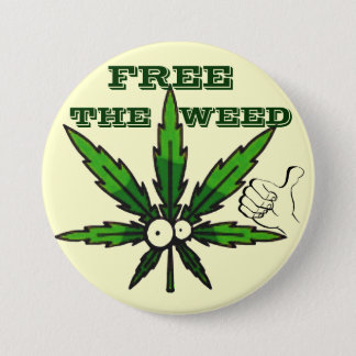 Free The Weed!_ 7.5 Cm Round Badge