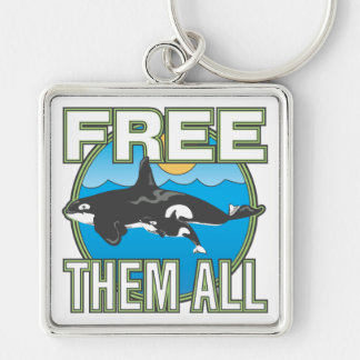 Free Them All Whales Keychains