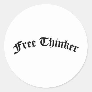 Free Thinker Classic Round Sticker
