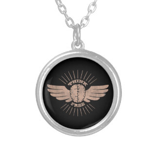 Free Thinker Silver Plated Necklace