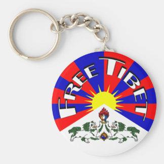 Free Tibet Badge Basic Round Button Key Ring