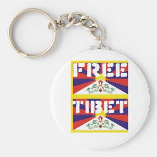 Free Tibet! Basic Round Button Key Ring