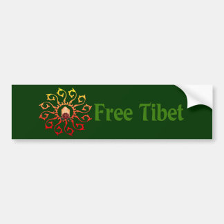 Free Tibet Candle Bumper Sticker