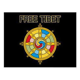 Free Tibet Dharmacakra Postcard
