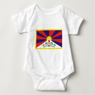 Free Tibet Flag Baby Bodysuit