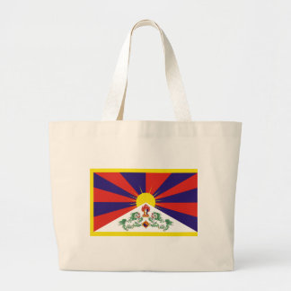 Free Tibet Flag Large Tote Bag