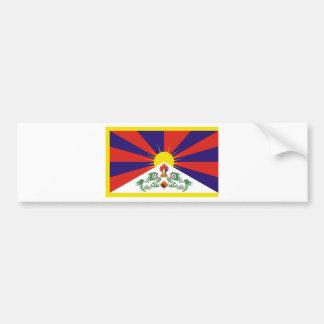 Free Tibet Flag - Peu Rangzen བོད་རང་བཙན་ Bumper Sticker