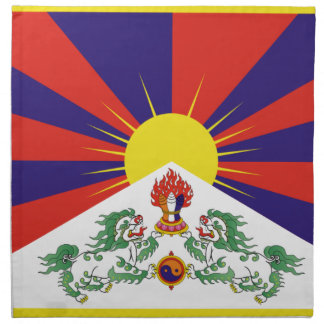 Free Tibet Flag - Peu Rangzen བོད་རང་བཙན་ Napkin