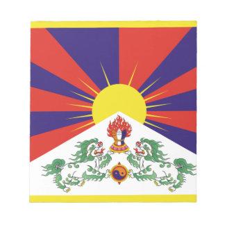 Free Tibet Flag - Peu Rangzen བོད་རང་བཙན་ Notepad