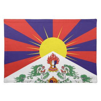 Free Tibet Flag - Peu Rangzen བོད་རང་བཙན་ Placemat