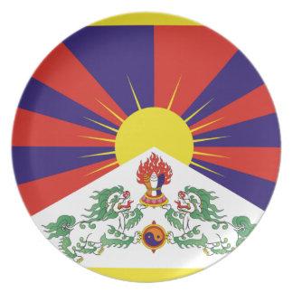 Free Tibet Flag - Peu Rangzen བོད་རང་བཙན་ Plate