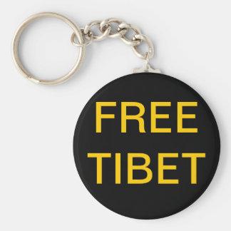 FREE TIBET BASIC ROUND BUTTON KEY RING