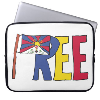 Free Tibet Laptop Sleeve