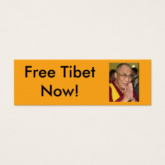 Free Tibet Now! Mini Business Card