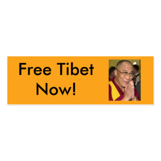 Free Tibet Now! Pack Of Skinny Business Cards