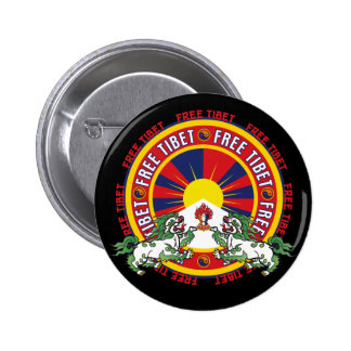 Free Tibet Round Logo 6 Cm Round Badge