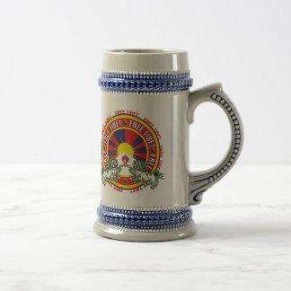 Free Tibet Round Logo Beer Steins
