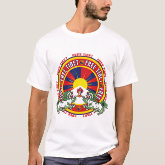 Free Tibet Round Logo T-Shirt