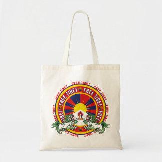 Free Tibet Round Logo Tote Bag