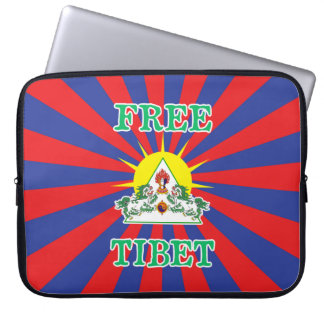 Free Tibet Snow Lions and Sun Symbol Laptop Computer Sleeves