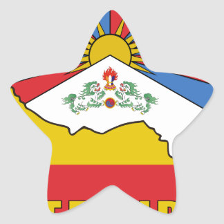 Free Tibet Star Sticker