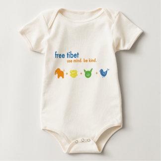 Free Tibet Thick infant Baby Bodysuit