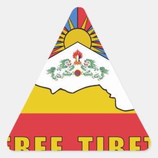Free Tibet Triangle Sticker