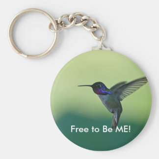 free to be me basic round button key ring