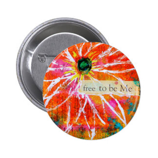 Free to Be Me Decorative Button