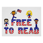 Free to Read w Kids Posters