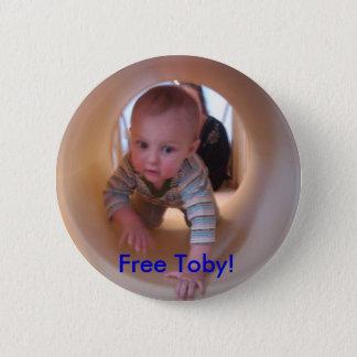 Free Toby! 6 Cm Round Badge